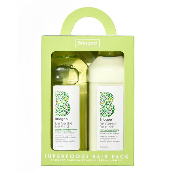 Briogeo Superfoods Apple Matcha + Kale Replenishing Shampoo + Conditioner Duo 2 piece - $56 Value
