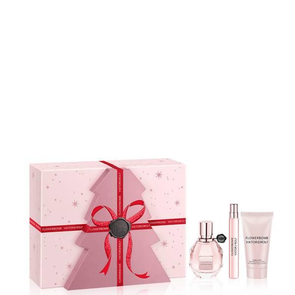 Viktor ja Rolf Flowerbomb Eau de Parfum ylellinen lahjasetti 50ml (arvo £115.00)