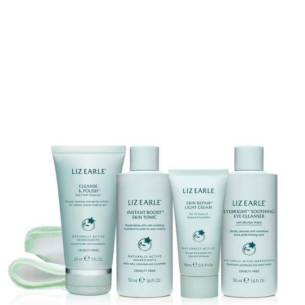 Liz Earle Your Daily Routine with Skin Repair Light Cream Try-Me Kit
