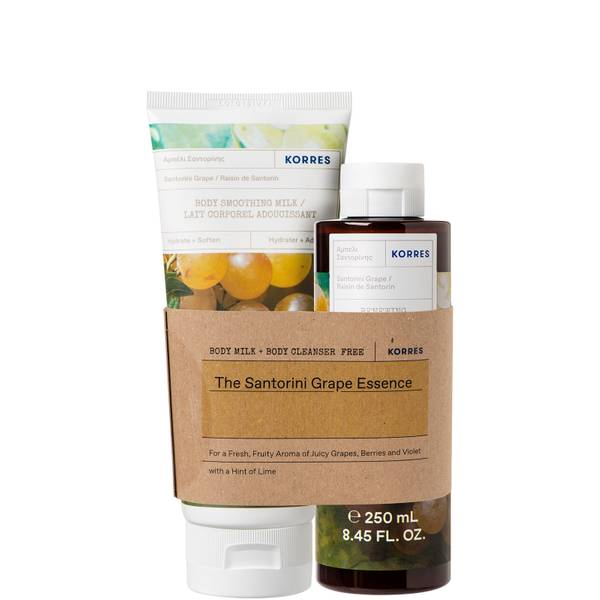 KORRES Santorini Grape Body Milk and Body Cleanser Duo (Worth £38.00)