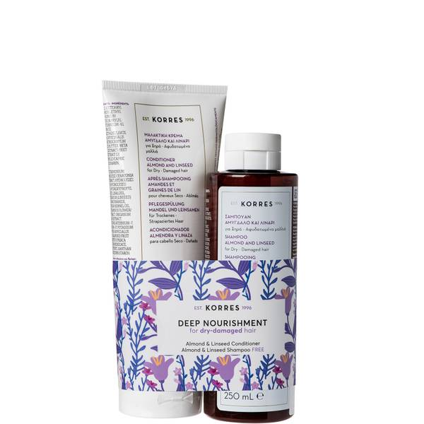 KORRES Almond & Linseed Kit Conditioner and Shampoo Duo (Worth £31.00)