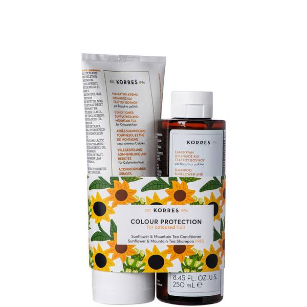 KORRES Sunflower & Mountain Tea Kit Conditioner and Shampoo Duo (Worth £31.00)