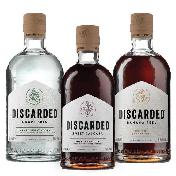 Discarded Spirits Trio – Cascara Vermouth, Banana Peel Rum and Chardonnay Vodka