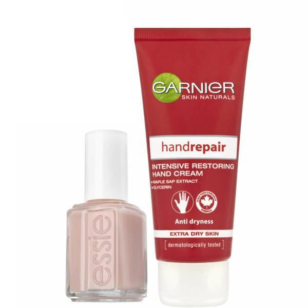essie X Garnier Nail Polish and Hand Cream Bundle