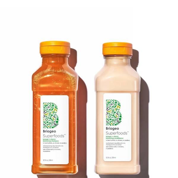 Briogeo Superfoods Mango Cherry Balancing Shampoo Conditioner Duo for Oil Control 2 piece - $56 Value