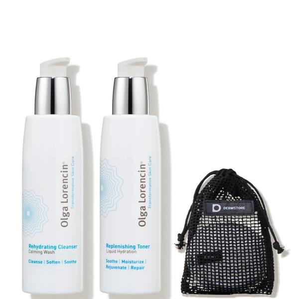 Olga Lorencin Skin Care Dermstore Exclusive Cleanse Refresh Kit 3 piece - $99 Value