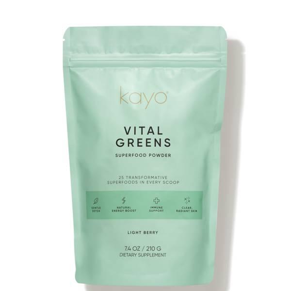 Kayo Body Care Vital Greens Superfood Powder Drink Mix 7.4 oz. - Light Berry