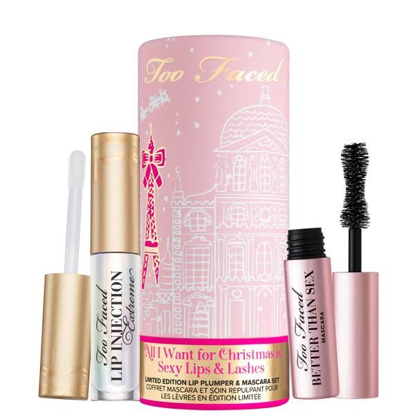 Too Faced Limited Edition All I Want for Christmas ovat seksikkäät huulet ja ripset asettaa (arvoltaan £ 24,00)