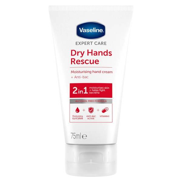 Vaseline Rescue Hand + Anti Bac Hand Lotion Tube 75ml