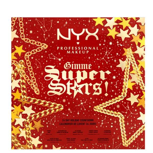 NYX Professional Makeup Gimme Super Stars! Calendario dell'Avvento di 24 giorni (del valore di £106.25)