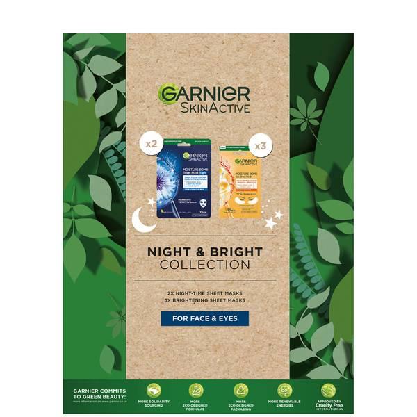Garnier Sheet Masks Night and Bright Collection