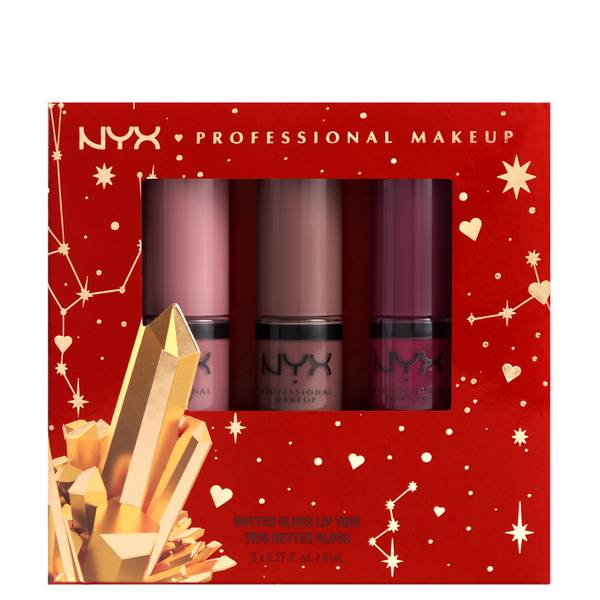 NYX Professional Makeup Gimme Super Stars! Butter Gloss Lip Trio Deep Nude Gift Set