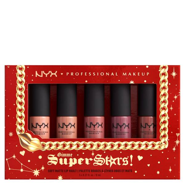 NYX Professional Makeup Gimme Super Stars! Soft Matte Lip Cream Vault Gift Set
