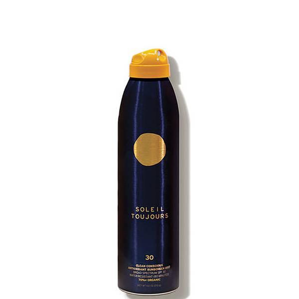 Soleil Toujours Clean Conscious Antioxidant Sunscreen Mist SPF 30 Travel Size 3 fl. oz.