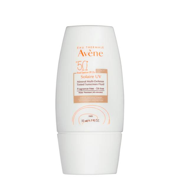 Avene Solaire UV Mineral Multi-Defense Tinted Sunscreen Fluid SPF 50+ 1.7 fl. oz.