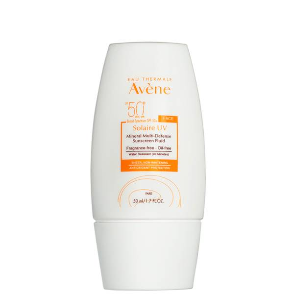 Avene Solaire UV Mineral Multi-Defense Sunscreen Fluid SPF 50+ 1.7 fl. oz.