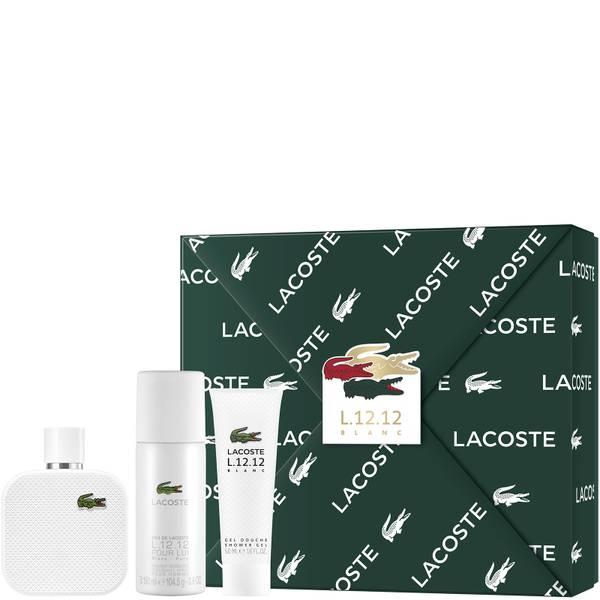 Lacoste L.12.12 Blanc For Him Eau De Toilette 100ml Gift Set