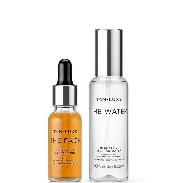 Tan-Luxe Face and Water Travel Large Bundle - Light-Medium