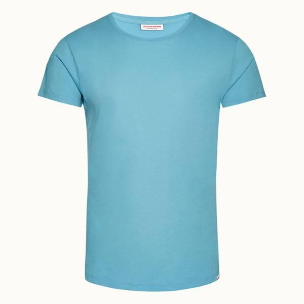 Ob-T 테일러드 핏 크루넥 티셔츠 마야 블루