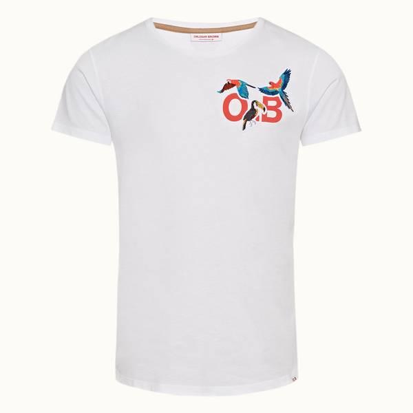 Ob-T 테일러드 핏 크루넥 티셔츠 인투 더 정글