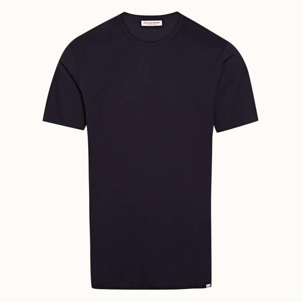 Nicolas Binding 릴렉스드 핏 코튼 티셔츠 나이트 아이리스