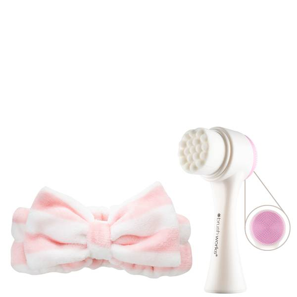 brushworks Luxury Facial Cleansing Brush and Headband