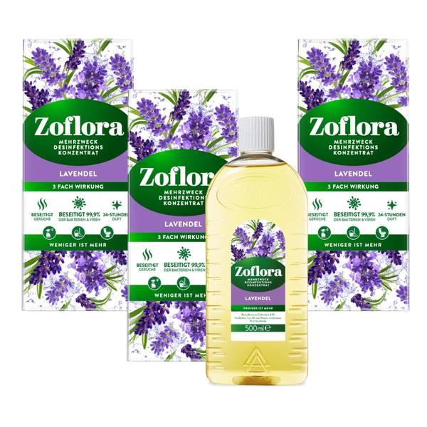 Lavendel Mehrzweck Desinfektionsmittel-Konzentrat 3x500 ml Vorteilspack