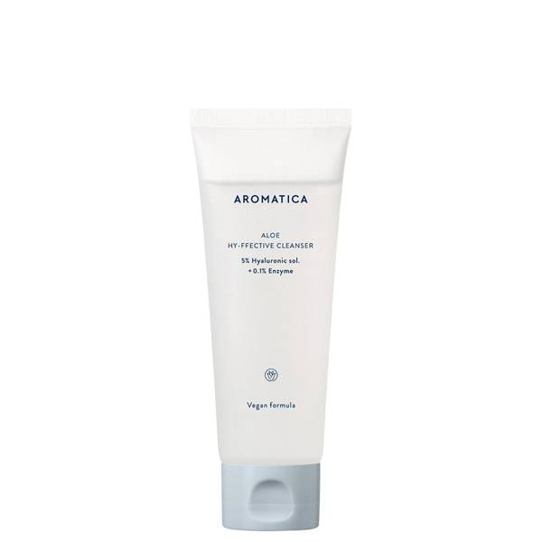 AROMATICA Aloe Hy-ffective Cleanser 5% Hyaluronic Sol. + 0.1% Enzyme 120ml