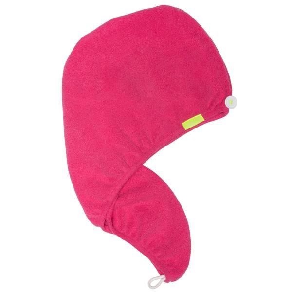 Aquis AON Lisse Turban Hot Pink
