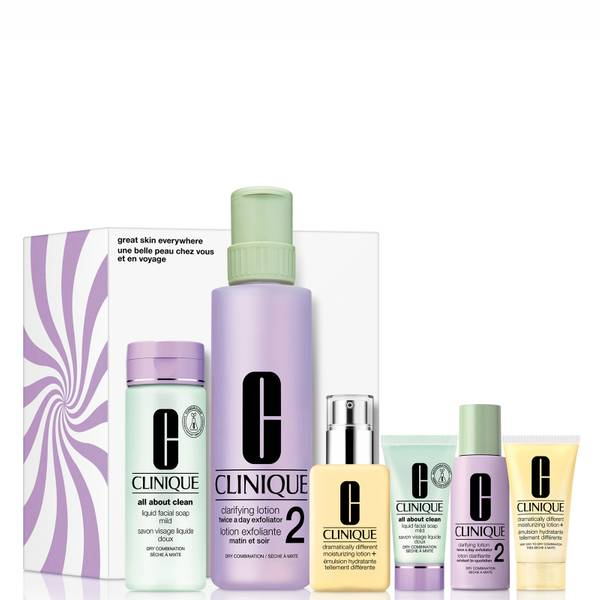 Clinique Great Skin Everywhere Set for Dry-Combination Skin (Worth £100.03)