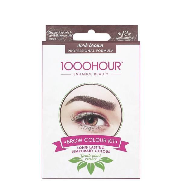 1000 Hour Eyelash & Brow Plant Extract Dye Kit - Dark Brown