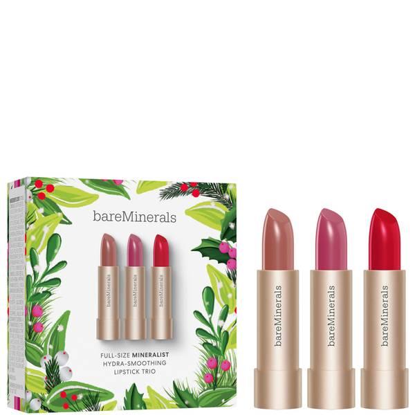bareMinerals Full Size Mineralist Hydra-smoothing Lipstick Trio