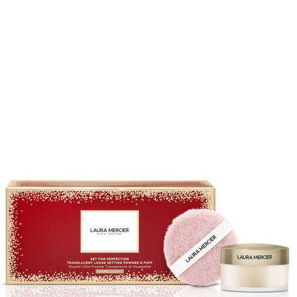 Laura Mercier Set For Perfection Translucent Loose Setting Powder and Puff Set 10g (Various Colours)