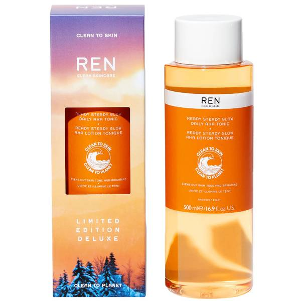 REN Clean Skincare Deluxe Ready Steady Glow Daily AHA Tonic 500ml (Worth £39)