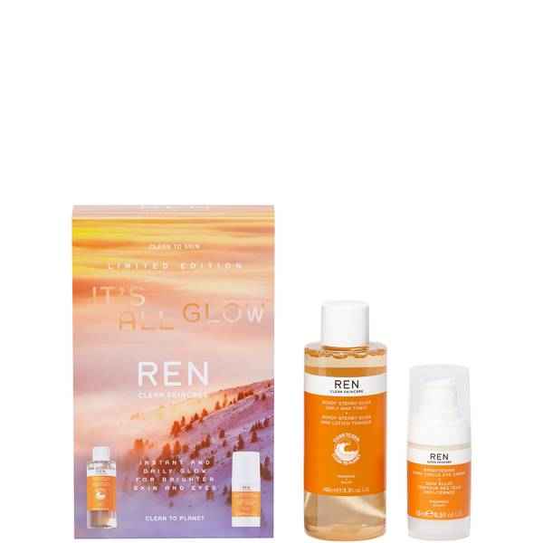 REN Clean Skincare It's All Glow Set - Exclusive (Worth £57)