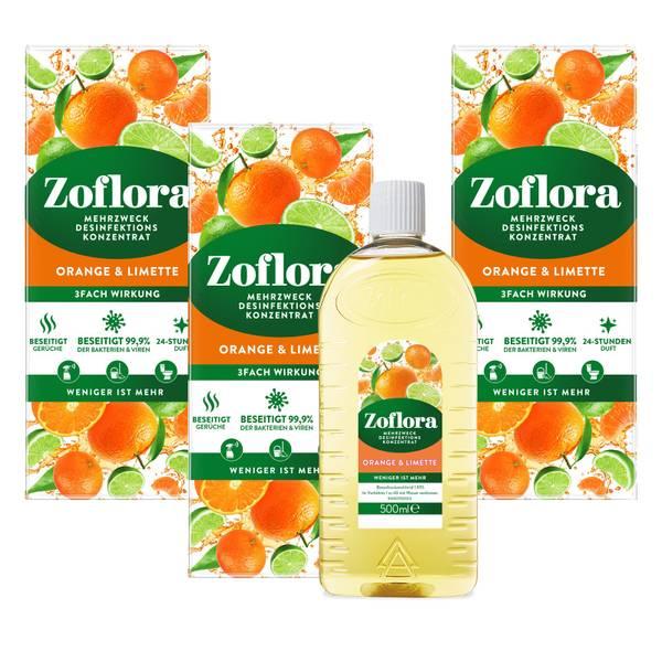 Orange & Limette Mehrzweck Desinfektionsmittel-Konzentrat 3x500 ml Vorteilspack