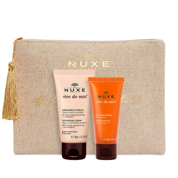 NUXE Rêve De Miel Clean Hands Gel & Hand and Nail Cream Duo