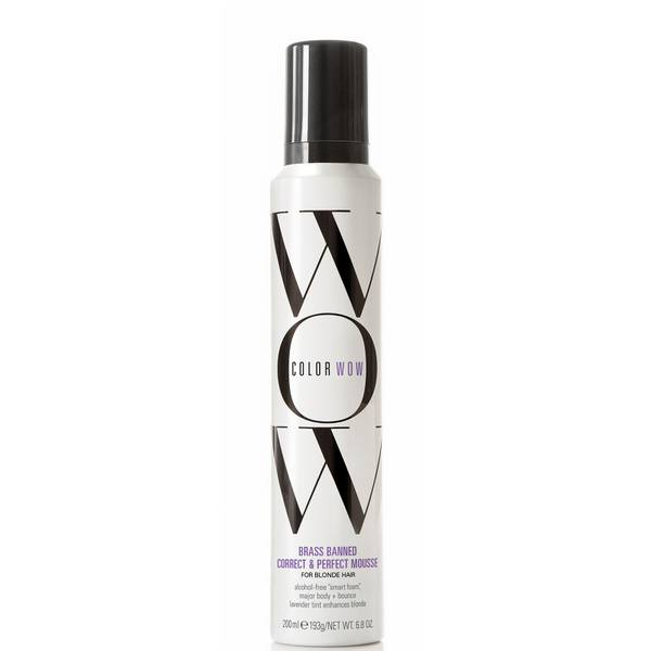 Color Wow Brass Banned Correct and Perfect Mousse for Blonde Hair 200g