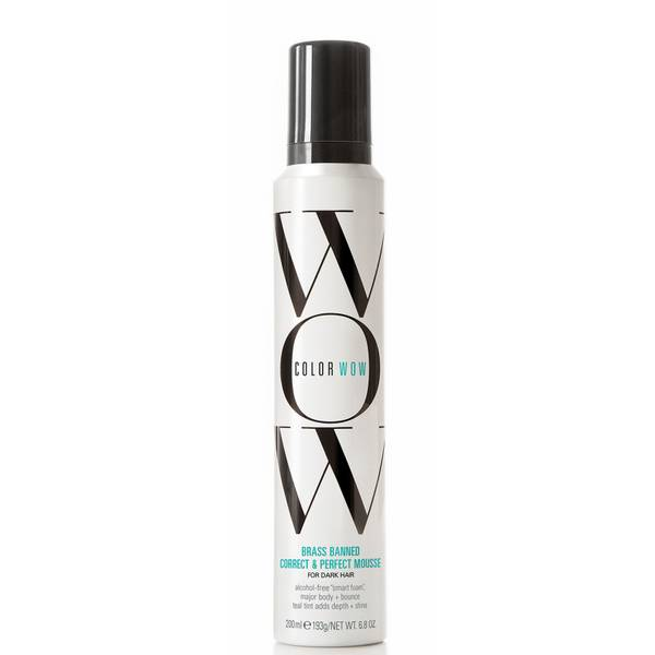 Color Wow Brass Banned Correct and Perfect Mousse for Dark Hair 200g