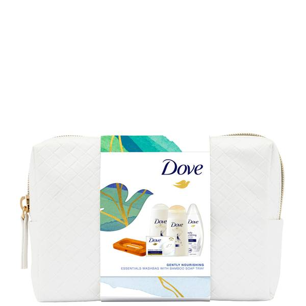Dove Gently Nourishing Essentials Washbag with Bamboo Soap Tray
