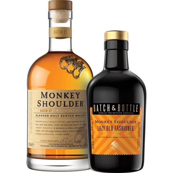 Monkey Shoulder Blended Malt and Batch & Bottle Lazy Old Fashioned Bundle