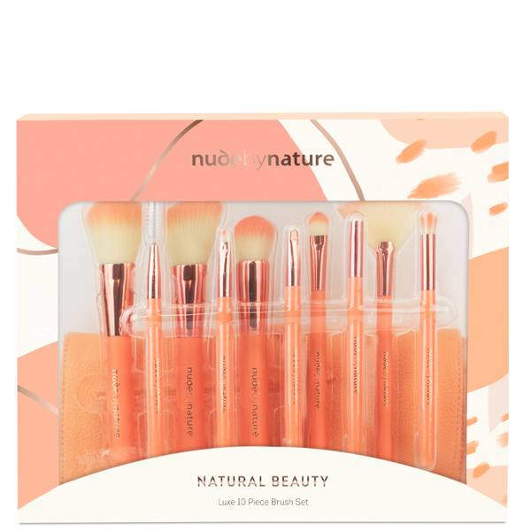 nude by nature 10 Piece Brush Set