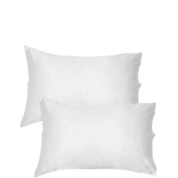 The Goodnight Co. Silk Pillowcase Twin Set Queen Size - White