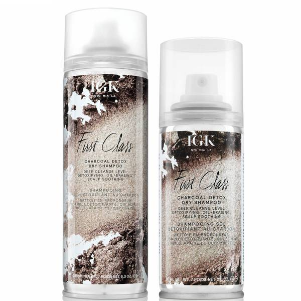 IGK First Class Charcoal Detox Dry Shampoo Home and Away Duo