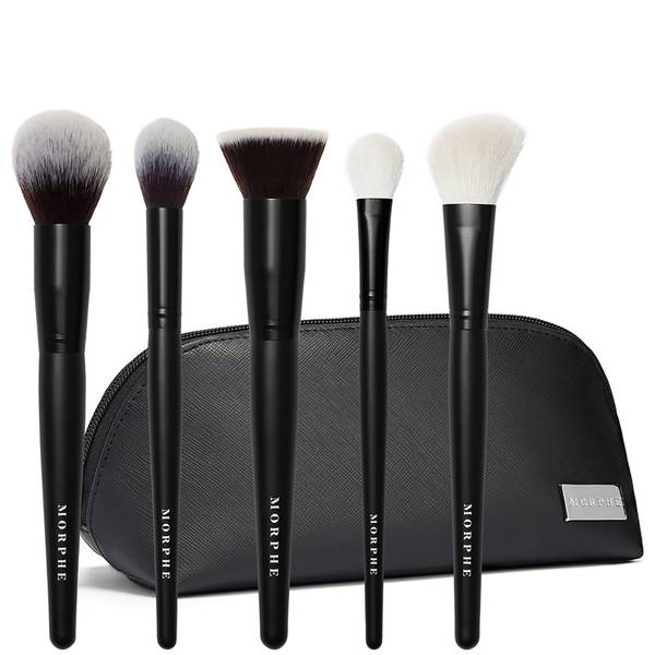 Morphe Face The Beat 5 Piece Brush Collection and Bag (Worth £79.00)