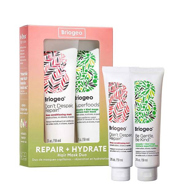 Briogeo Repair + Hydrate Mini Hair Mask Duo