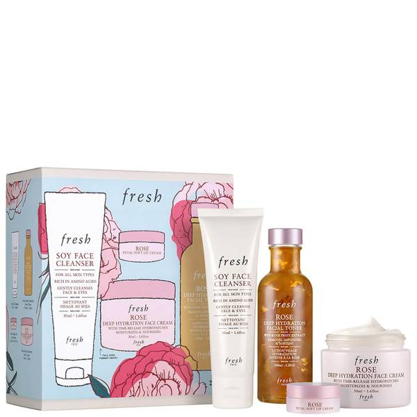Fresh Rose Deep Hydration Skincare Set