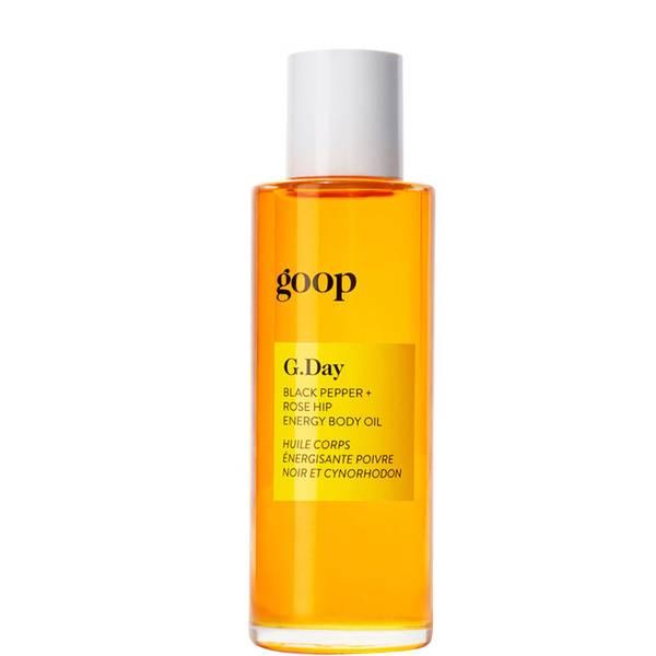 goop G. Day Black Pepper + Rose Hip Energy Body Oil