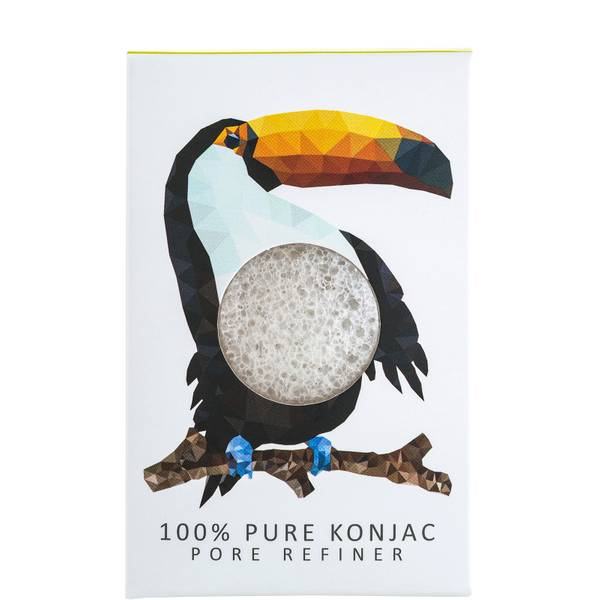 The Konjac Sponge Company Konjac Mini Pore Refiner Rainforest Toucan 100% Pure Konjac