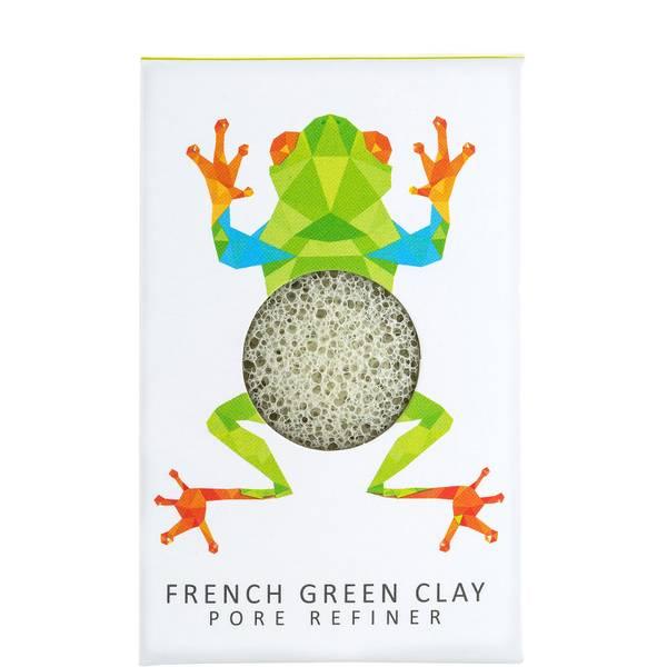 The Konjac Sponge Company Konjac Mini Pore Refiner Rainforest Tree Frog French Green Clay